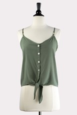 C/Meo Collective Sage Button Up Cami